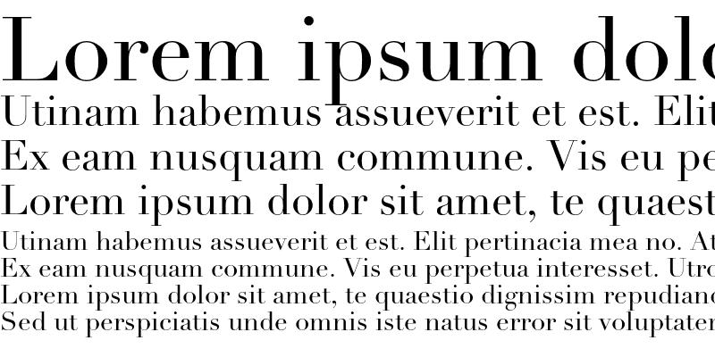 Sample of Linotype Didot OsF