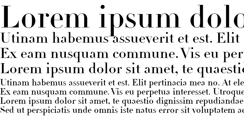 Sample of Linotype Didot