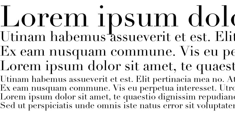 Sample of Linotype Didot Roman