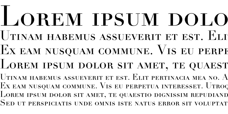 Sample of Linotype Didot Small Caps & Old