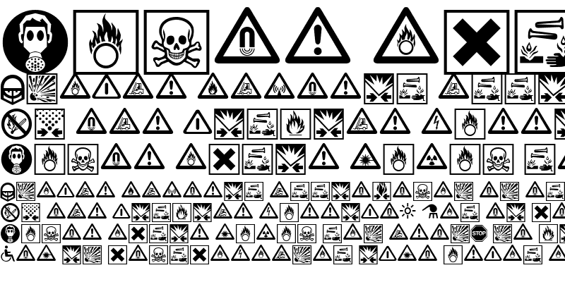 Sample of Linotype Warning Pi