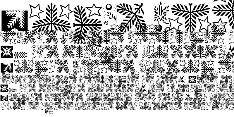 Sample of Linotype Xmas Pi Regular