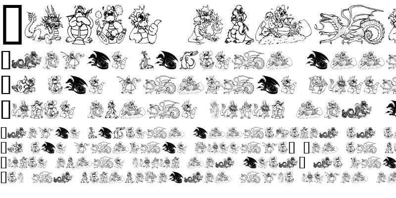 Sample of Lisa's Dragons