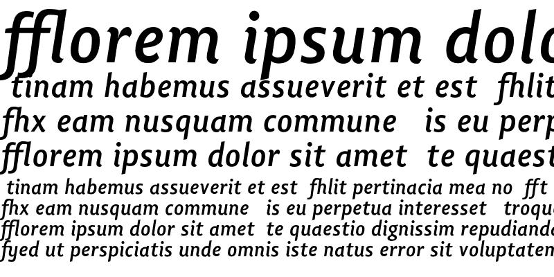 Sample of Lisboa Ligatures Bold Italic