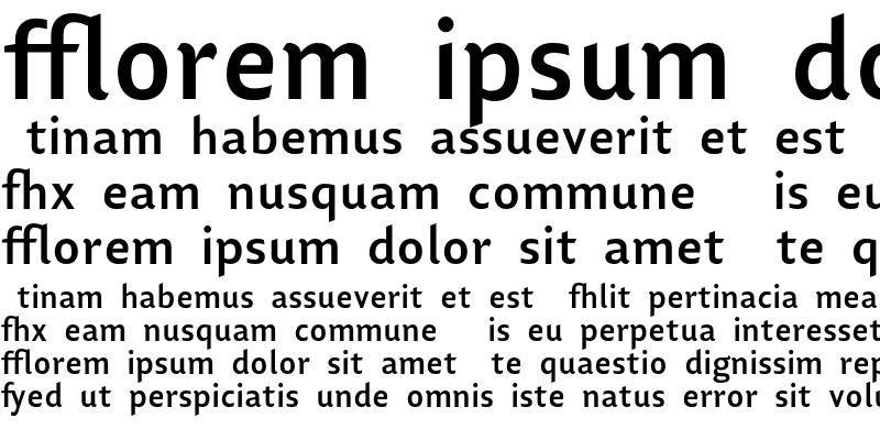 Sample of Lisboa Ligatures Bold