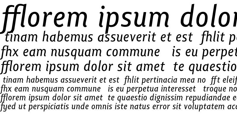 Sample of Lisboa Ligatures Italic