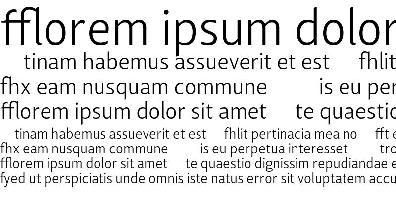 Sample of Lisboa Sans Ligatures Light