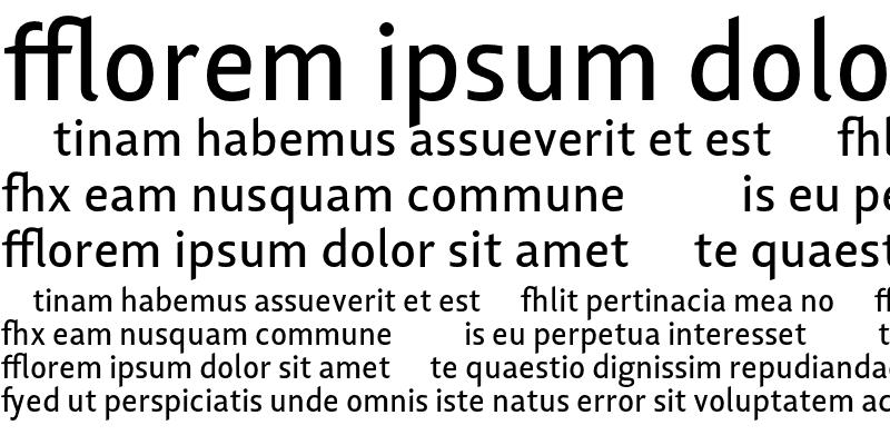 Sample of Lisboa Sans Ligatures Regular