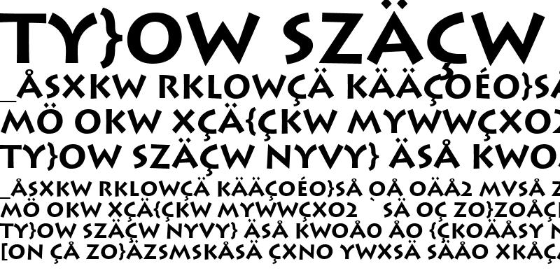 Sample of Lithos-Bold