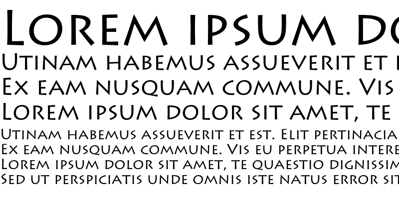 Sample of Lithos Pro Regular