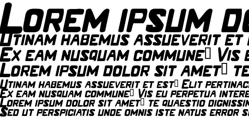 Sample of LM Caps Italic