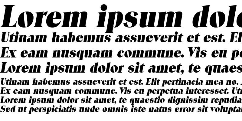 Sample of Locura Display SSi Italic