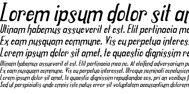 Sample of Locus Italic