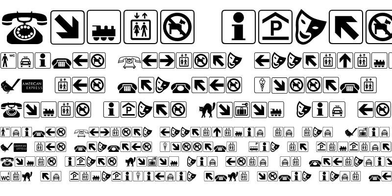 Sample of LogosPiFont