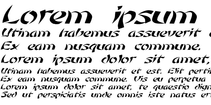 Sample of Low Rider 3 Italic
