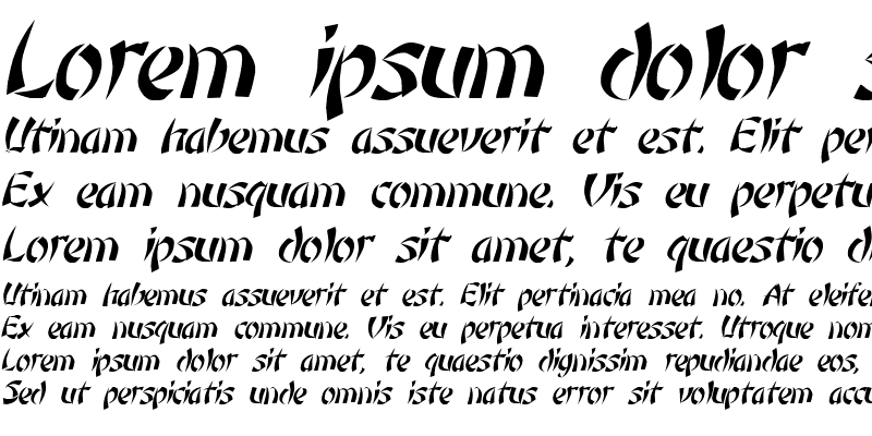Sample of Low Rider 4 Italic