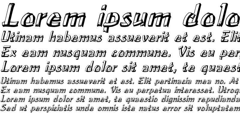 Sample of LowEa Italic