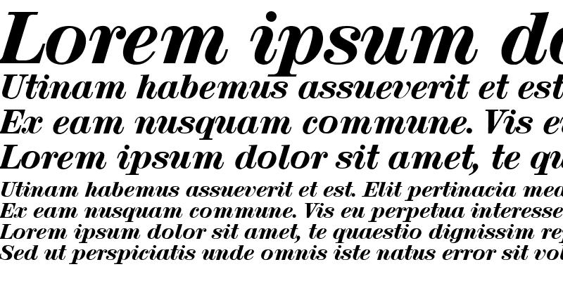 Sample of Lucia Display SSi Italic