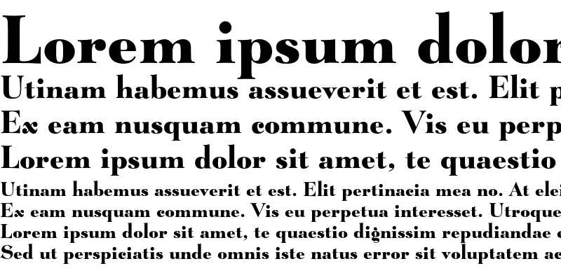 Sample of Lucian Bold