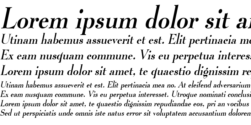 Sample of Luciano Condensed Italic