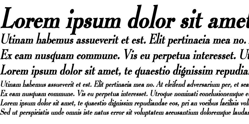 Sample of Luciano Thin BoldItalic