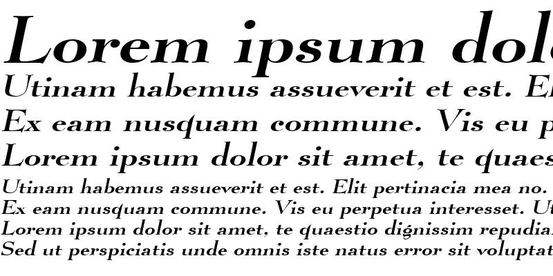 Sample of Luciano Wide Italic