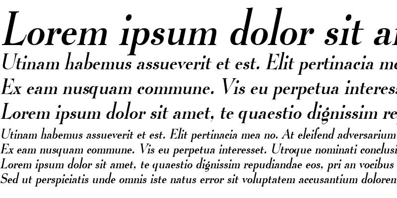Sample of LucianoCondensed Italic