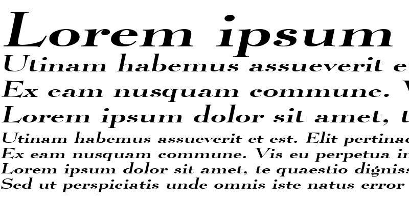 Sample of LucianoExtended Italic