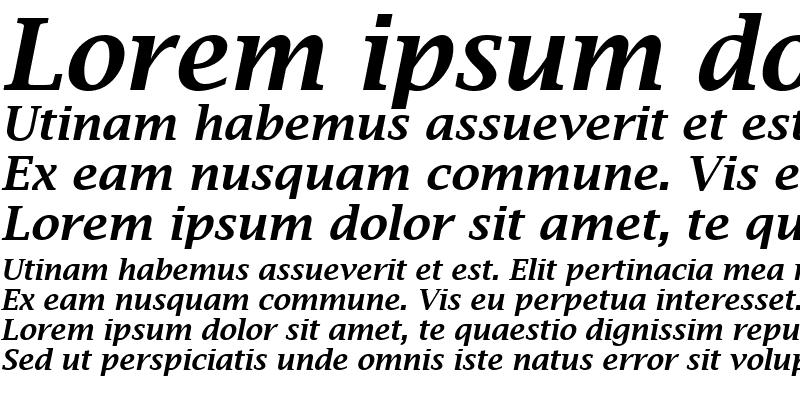Sample of Lucida Bright Demibold Italic