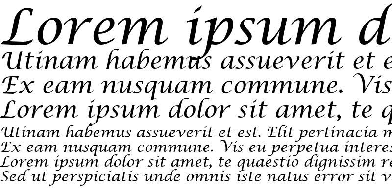 Sample of Lucida Calligraphy
