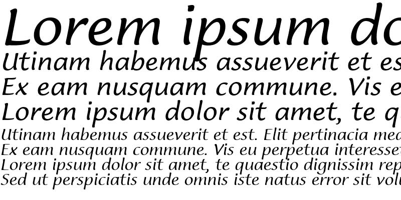 Sample of Lucida Casual Italic