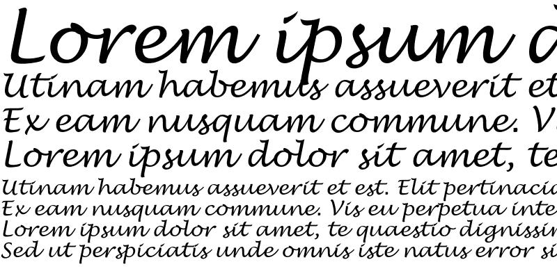 Sample of Lucida Handwrit Regular