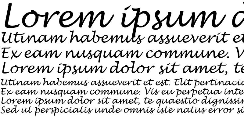 Sample of Lucida Handwriting Italic