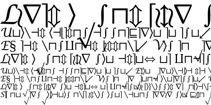 Sample of Lucida Math Symbol Regular