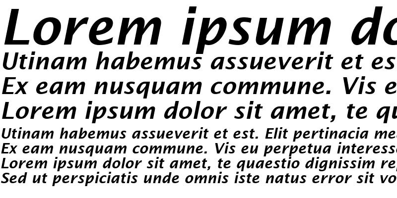 Sample of Lucida Sans Demibold Italic