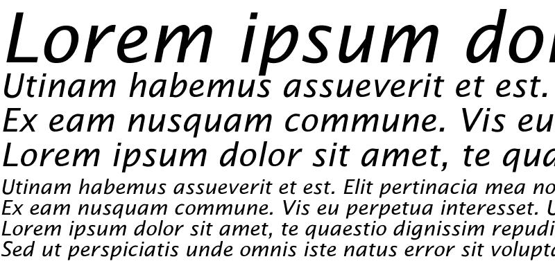Sample of Lucida Sans Ita Regular