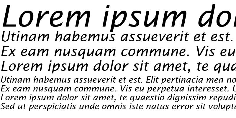 Sample of Lucida Sans Italic