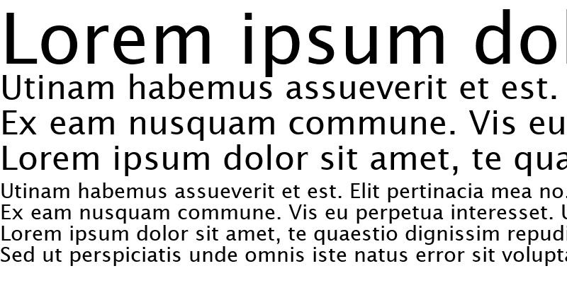 Sample of Lucida Sans Regular
