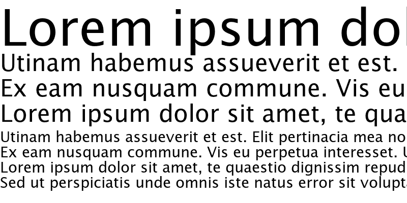 Sample of Lucida Sans Roman