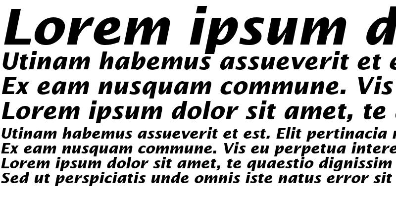 Sample of Lucida Sans Std Bold Italic
