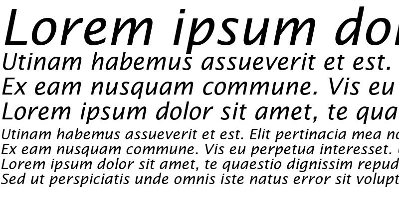 Sample of Lucida Sans Std Italic