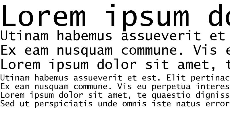 Sample of Lucida Sans Typ