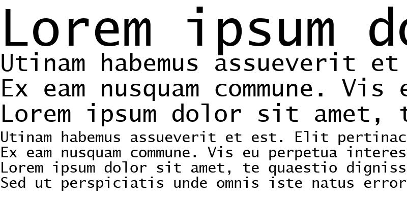 Sample of Lucida Sans Typewriter