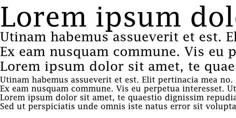 Sample of LucidaFaxEF Roman