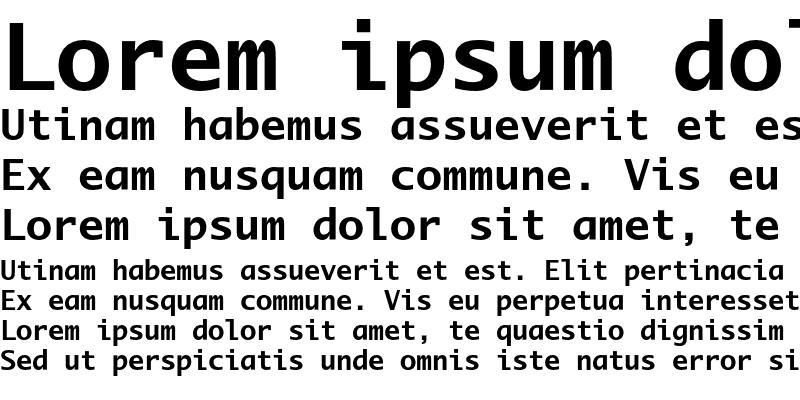 Sample of LucidaMonoEF Bold