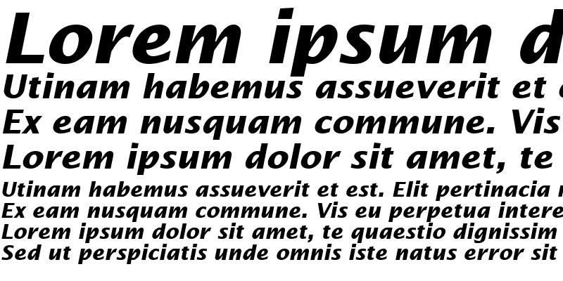 Sample of LucidaSans BoldItalic Regular