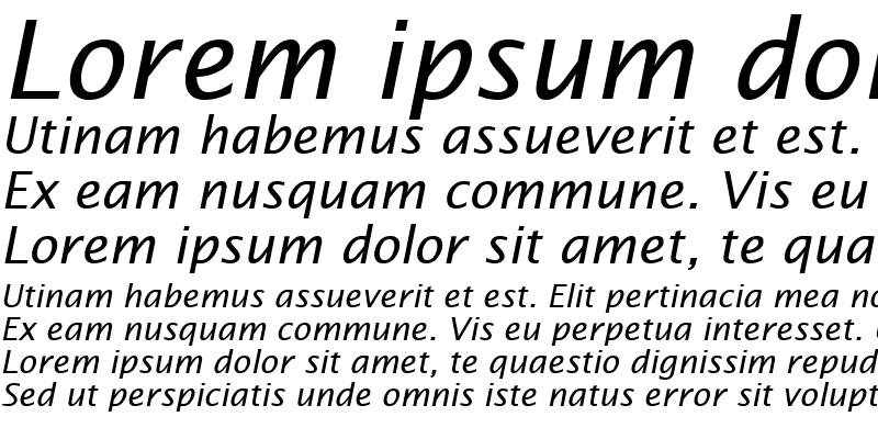 Sample of LucidaSans-Italic