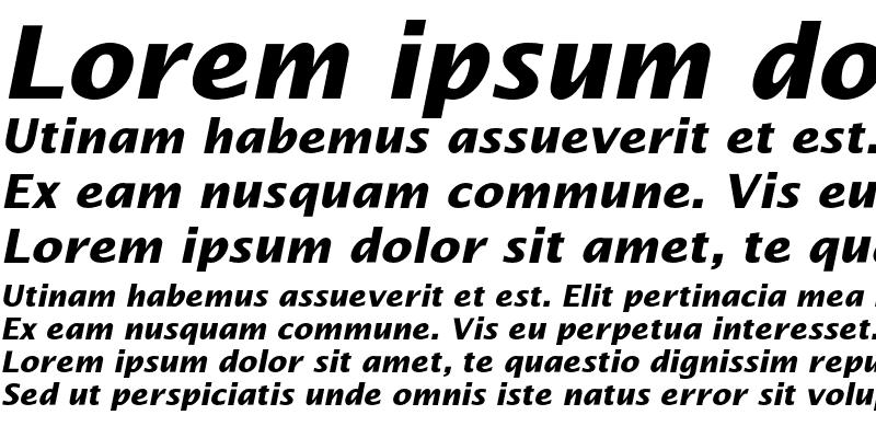 Sample of LucidaSansEF Bold Italic