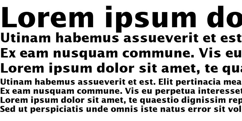 Sample of LucidaSansEF