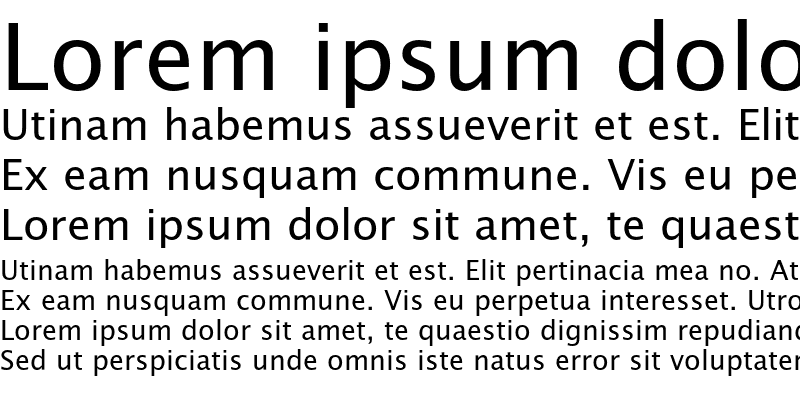Sample of LucidaSansEF Roman
